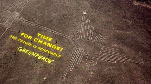 Greenpeace invade território proibido para ação de marketing (Foto: Reprodução/Reuters)
