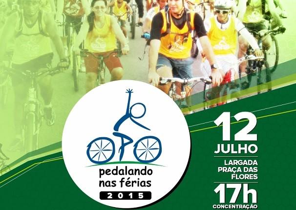 """O """"Pedalando nas Férias 2015"""" acontecerá no dia 12 de julho (Foto: Priscila Miranda/ TV Tapajós)"""