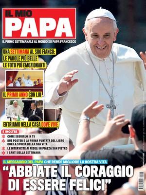 "Capa da revista ""Il mio papa"", que chegará às bancas na quarta-feira (Foto: Mondadori/AP)"