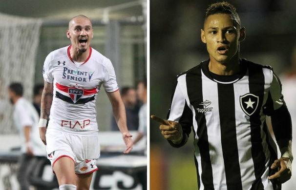 São Paulo e Botafogo jogam pela 20ª rodada do Brasileirão (Foto: montagem/GE)