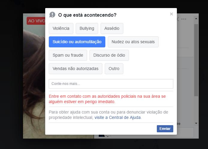 Facebook oferece ferramenta contra suicídios (Foto: Reprodução/Paulo Alves)