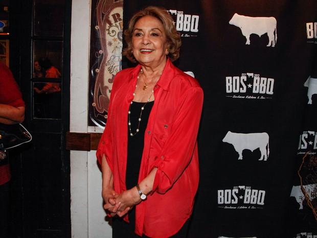 Eva Wilma em seu aniversário de 80 anos em um restaurante em São Paulo (Foto: Marcos Ribas/ Foto Rio News)