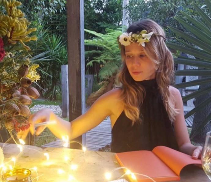 Atriz conta que passou a virada do último ano na Austrália (Foto: Reprodução/TV Globo)