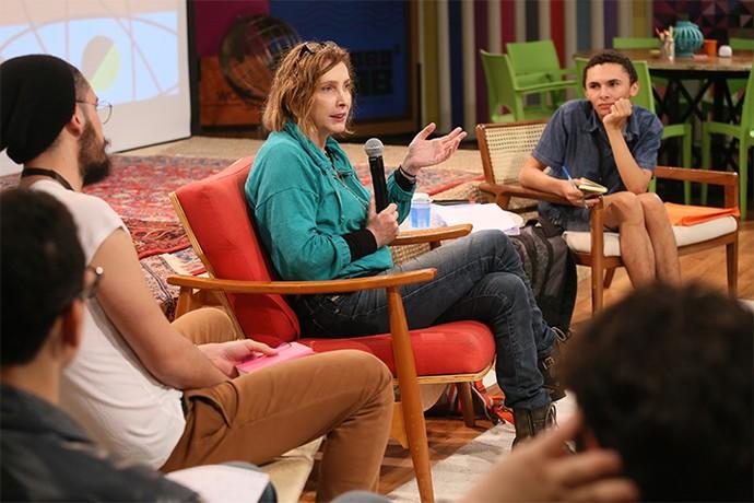 Adriana Falcão fala sobre construção do personagem (Foto: Gianne Carvalho/TV Globo)