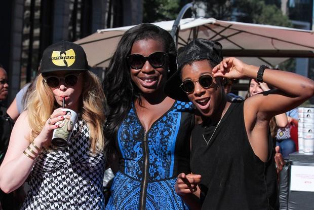 Natasha lyonne, Uzo Aduba e Samira Wiley, atrizes da série Orange Is the New Black  (Foto:  Raphael Castello/AgNews)