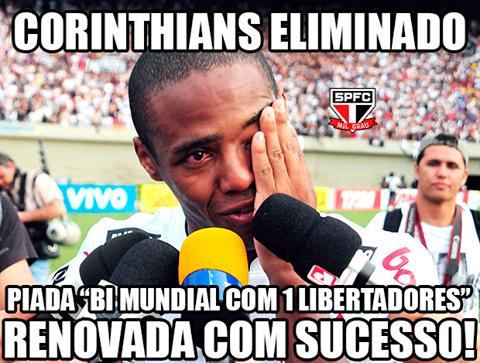 BLOG: Rivais não perdoam mais uma eliminação do Corinthians em casa