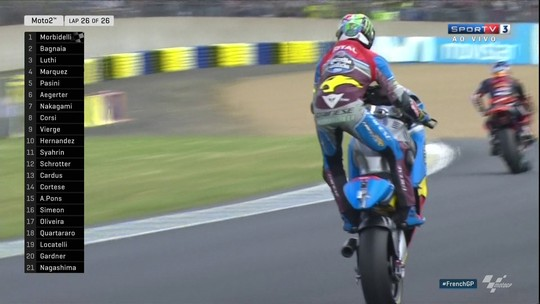 Ítalo-brasileiro Morbidelli vence na França e amplia liderança na Moto2
