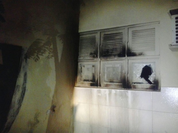 Ataque a delegacia em Mossoró aconteceu na madrugada desta quarta (15) (Foto: Divulgação/PM)