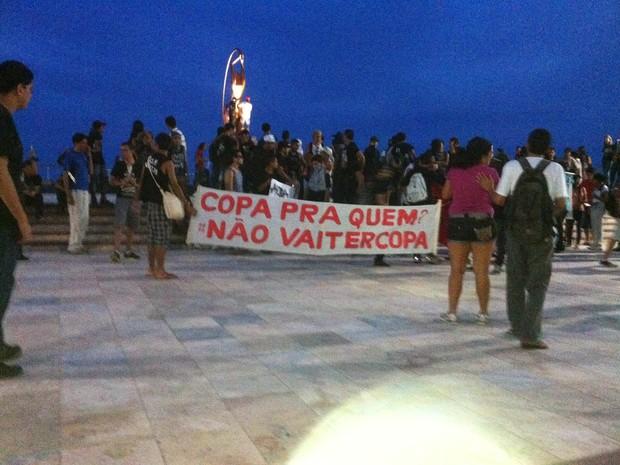 Protesto em fortaleza em 25 de janeiro (Foto: Thiago Conrado/G1)