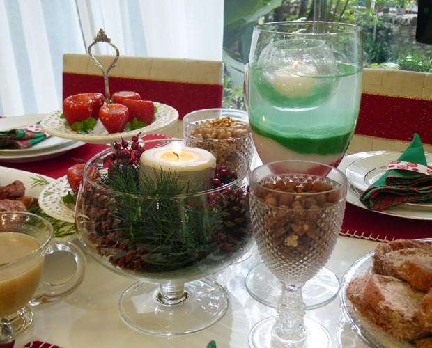 Dicas para mesa de Natal (Foto: Priscilla Massena/Gshow)