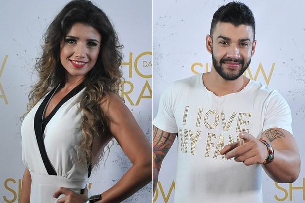 Paula Fernandes e Gusttavo Lima  (Foto: Marcelo Machado/ EGO)