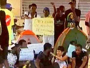 Sem ter como pagar aluguel, alunos acampam no campus da Unilab (Foto: Arquivo pessoal)