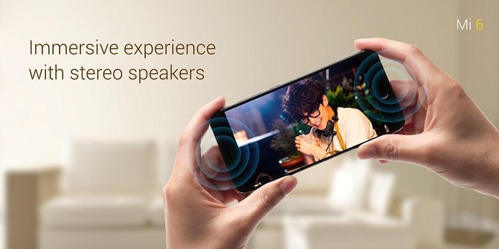 Xiaomi Mi 6 possui som estéreo, mas não tem entrada padrão para fones de ouvido (Foto: Divulgação/Xiaomi)