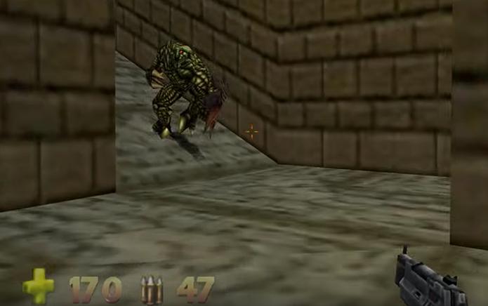Turok 2 contava com armas bizarras e inimigos assustadores no Nintendo 64 (Foto: Reprodução/YouTube)