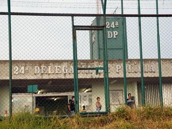 24ª DP em Ceilândia, região com maior número de homicídios do DF (Foto: Ricardo Moreira/G1)