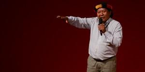 No encerramento, líder ianomâmi relata ameaças de morte (Flavio Moraes/G1)
