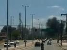 Incêndio no CE atinge depósito de reciclagem e assusta moradores