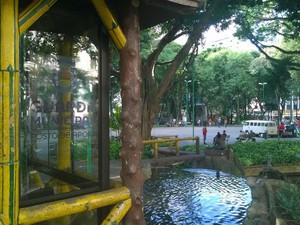 Reforma Parque Halfeld 3 (Foto: Roberta Oliveira/ G1)
