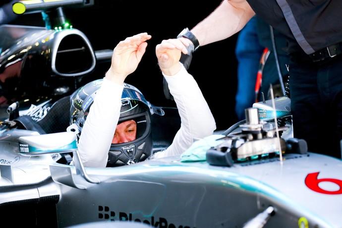 Nico Rosberg após treino classificatório para o GP da China - Fórmula 1 (Foto: EFE)