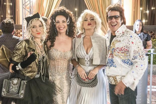 Renata Augusto, Carolina Ferraz, Ellen Rocche e Alexandre Borges (Foto: Renato Rocha Miranda/Globo)
