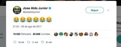 José Aldo tweet (Foto: Reprodução/Twitter)