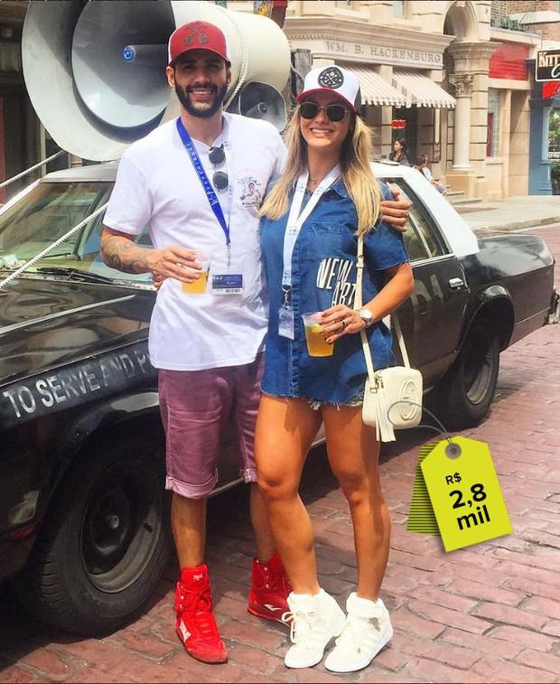 Andressa Suita usa bolsa R42,8 mil em tarde de passeio com o marido, o cantor Gusttavo Lima (Foto: Reprodução do Instagram)