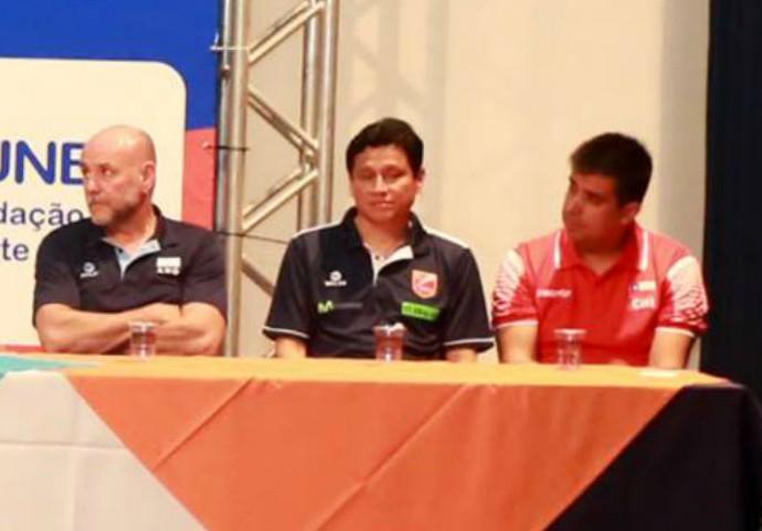 David Rodas, Chefe da delegação, Peru, vôlei feminino (Foto: Enerson Cleiton)
