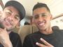 Neymar embarca para se apresentar à Seleção ao lado de Marquinhos