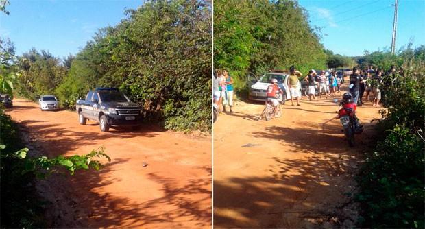 Corpo foi encontrado em estrada de terra no bairro Bela Vista, no município de Parnamirim, (Foto: Divulgação/Polícia Civil do RN)