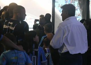 Luan Renato portaluppi Grêmio (Foto: Eduardo Moura/GloboEsporte.com)