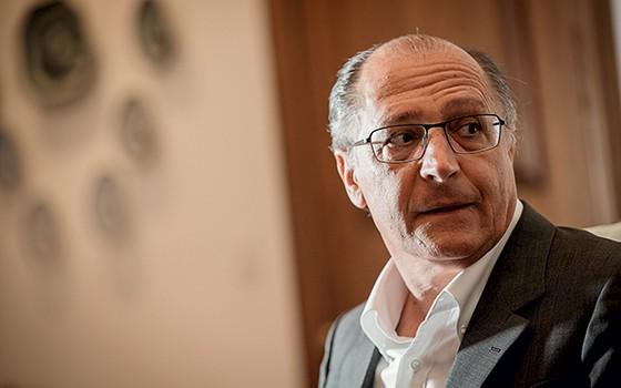 EXPOSIÇÃO Geraldo Alckmin. Ele apareceu mais que Haddad  no episódio  da redução  do  preço das passagens (Foto: Adriano Vizoni/Folhapress)