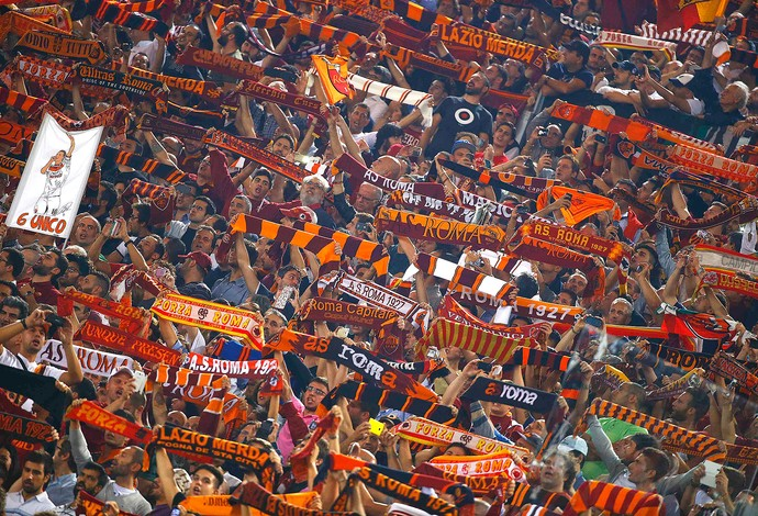 Torcida, Roma x Bayern (Foto: Reuters)