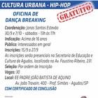 Inscrições abertas para oficina de dança breaking