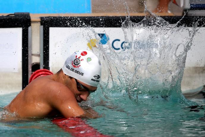 Leonardo de Deus 200m borboleta Finkel natação (Foto: Satiro Sodré / SSPress / CBDA)