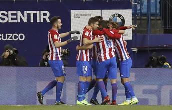 Atlético de Madrid bate Eibar e fica perto da semifinal da Copa do Rei
