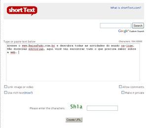 short text site