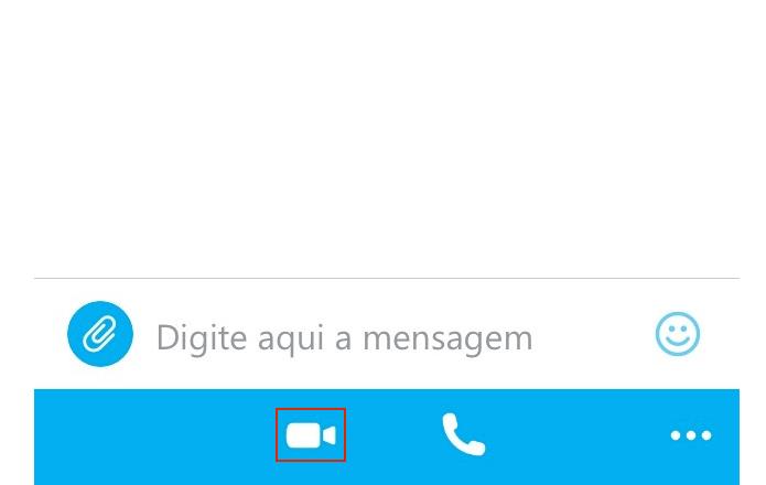 Iniciando uma chamada de vídeo no Skype mobile (Foto: Reprodução/Edivaldo Brito)