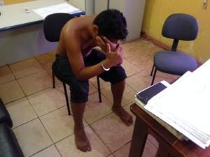 Suspeito de violentar adolescente negou envolvimento com a vítima (Foto: John Pacheco/G1)