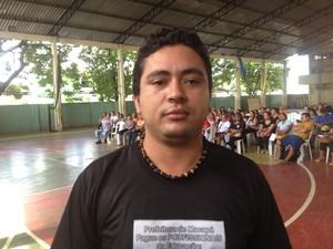 Ailton Costa, presidente da Executiva Municipal do Sinsepeap (Foto: Dyepeson Martins/G1)