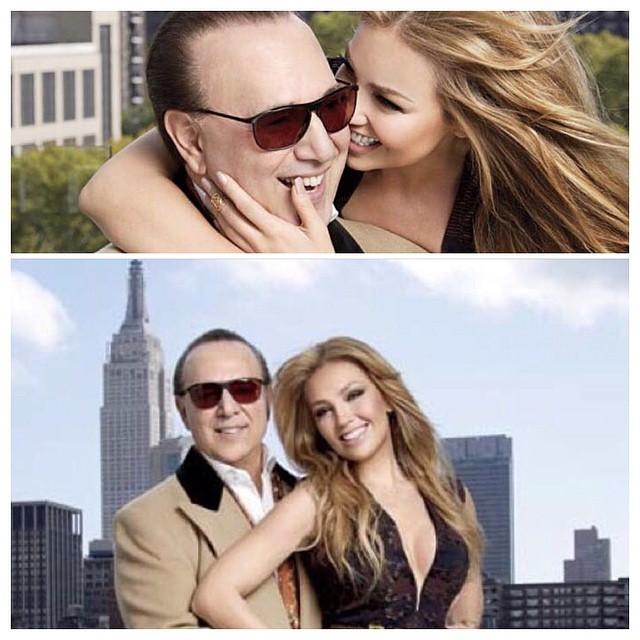 """Thalia posa com o marido 22 anos mais velho: """"Encontrei um rei"""""""