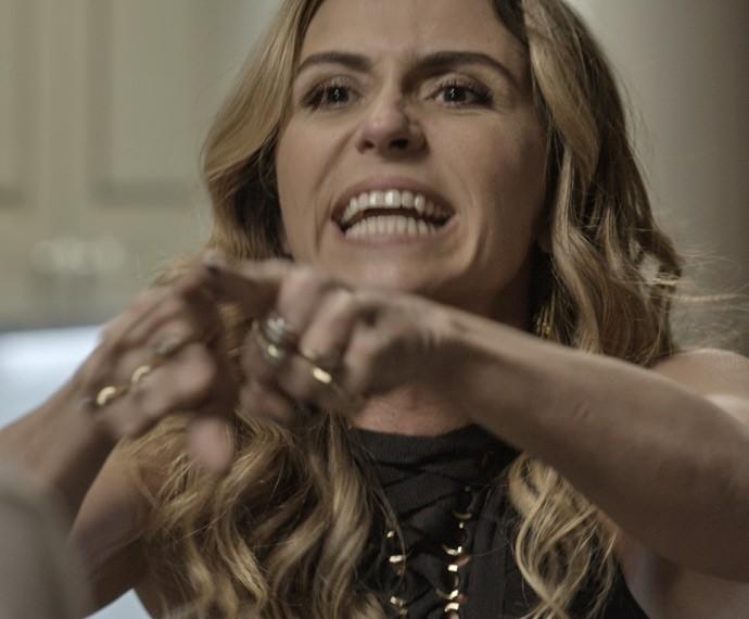 Atena mostrar que não entrou no jogo para perder (Foto: TV Globo)