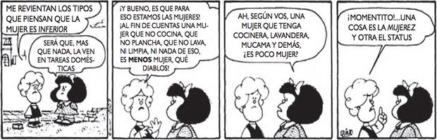 QUINO.Disponível em: http://mafalda.dreamers.com. Acesso em: 27 fev. 2012. (Foto: Reprodução/Enem)