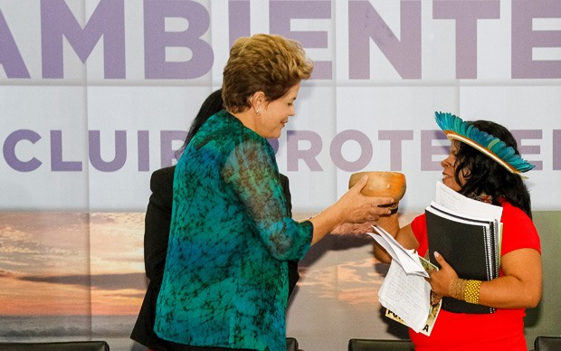 Dilma participa de cerimônia do Dia do Meio Ambiente (Foto: Ricardo Stuckert Filho/ PR)