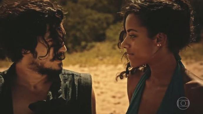 Sophie surpreende Miguel (Foto: TV Globo)
