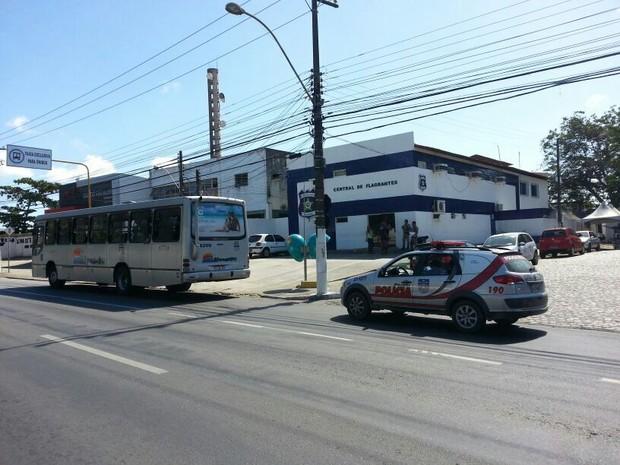 Ônibus em que os torcedores estavam é da empresa Massayó. (Foto: Arquivo Pessoal/Kleverton Amorim)