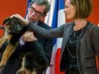 Para substituir Diesel, Rússia doa filhote de cão policial à França