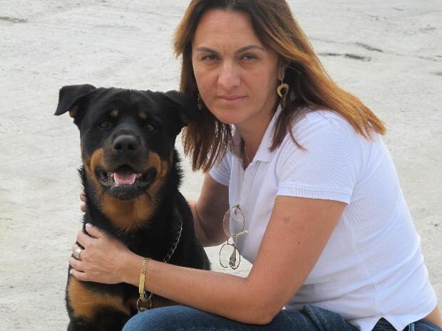 Cachorro Duque estava com Marcelo Fukuhara quando ele foi assassinado (Foto: Anna Gabriela Ribeiro/G1)