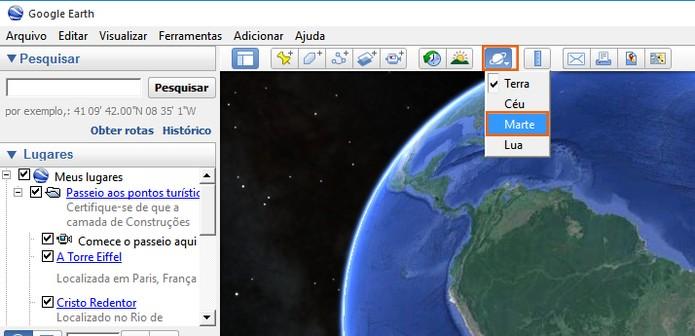 Resultado de imagem para google earth marte