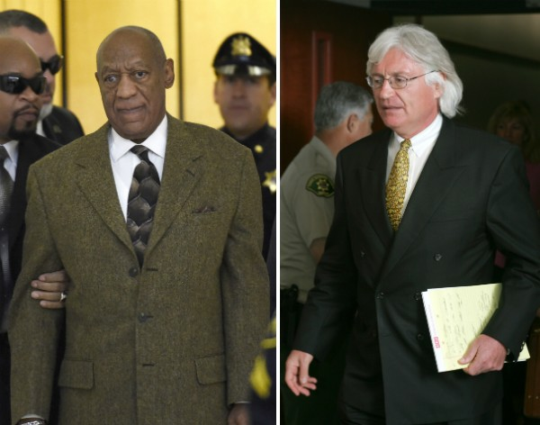 O ator Bill Cosby e o advogado Thomas Mesereau (Foto: Getty Images)