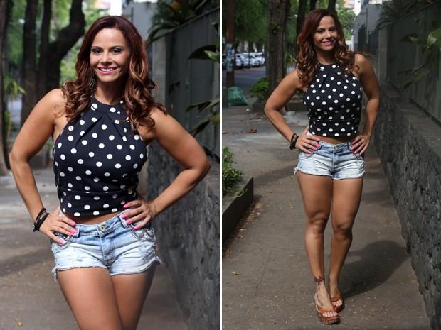 Viviane Araújo exibe pernas torneadas em gravação de 'Império' (Foto: Pedro Curi/Gshow)